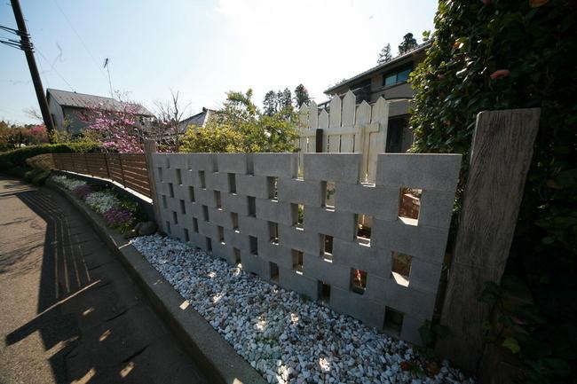 デザインブロック フェンス 外構千葉