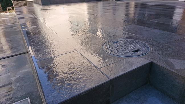タイルテラス 雨水桝 外構千葉